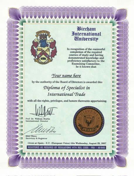 Specialist - Expert Diploma