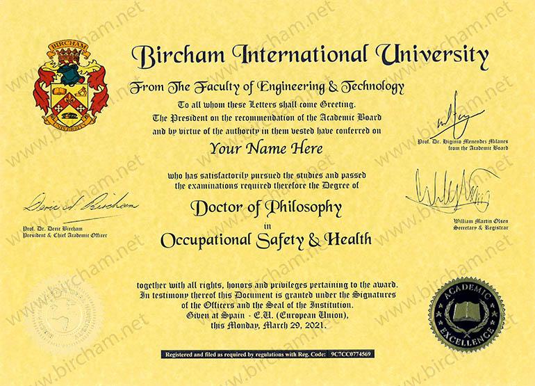 Doctor Ph.D. Degree