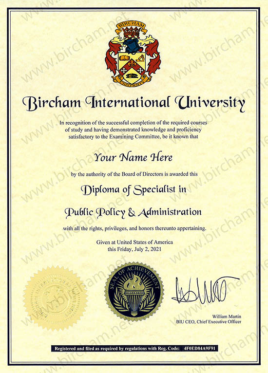 Specialist - Expert Diploma Online via distance learning